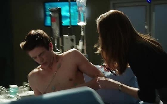Grant Gustin sexy shirtless scene October 20, 2014, 3pm