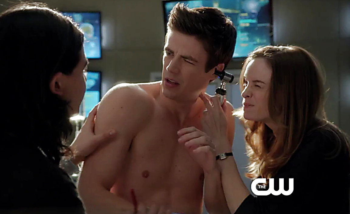Grant Gustin sexy shirtless scene May 15, 2014, 2pm