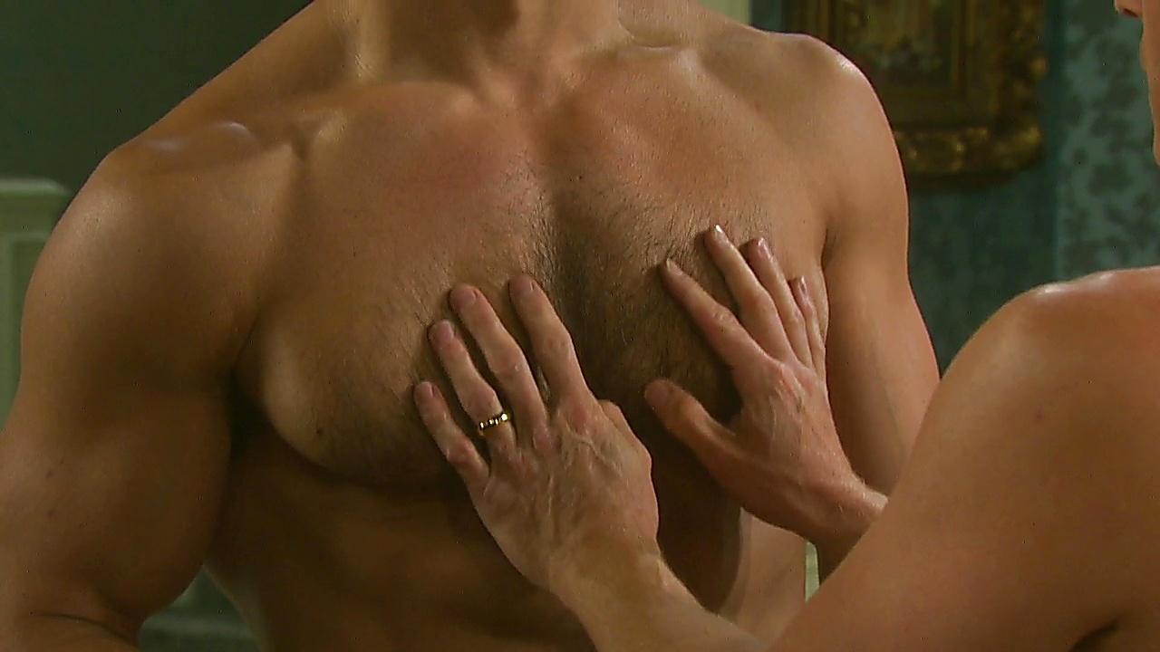 Greg Rikaart sexy shirtless scene January 10, 2019, 1pm