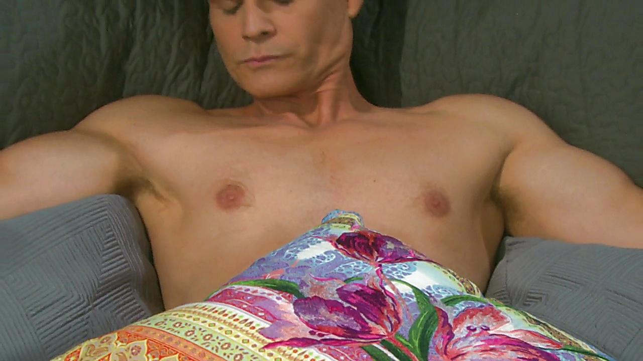 Greg Rikaart sexy shirtless scene February 20, 2019, 11am