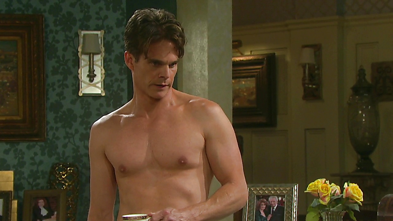 Greg Rikaart latest sexy shirtless scene March 1, 2019, 12pm