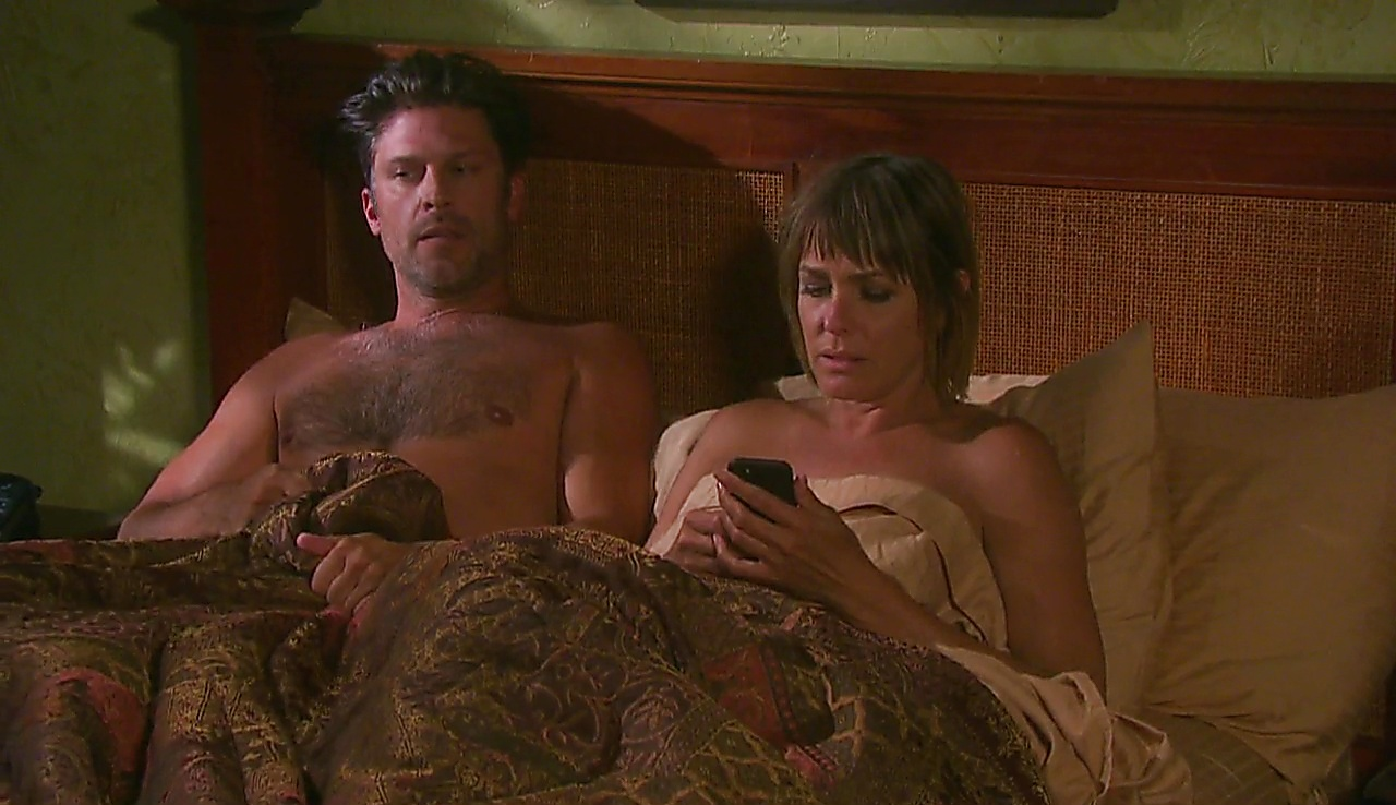Greg Vaughan sexy shirtless scene October 12, 2017, 1pm
