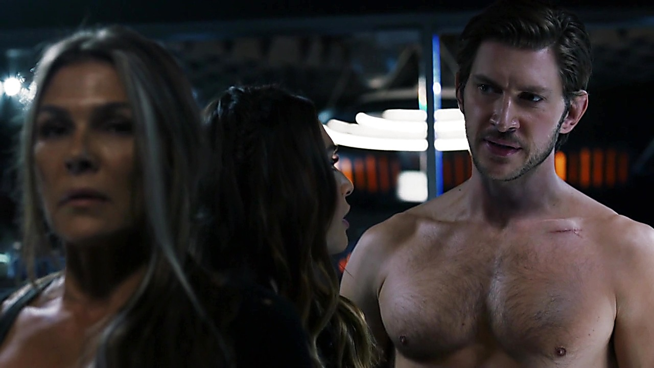 Greyston Holt sexy shirtless scene July 2, 2019, 11am