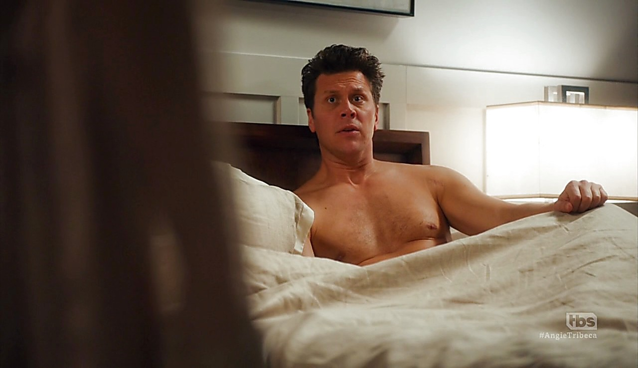 Hayes Macarthur sexy shirtless scene May 2, 2017, 1pm