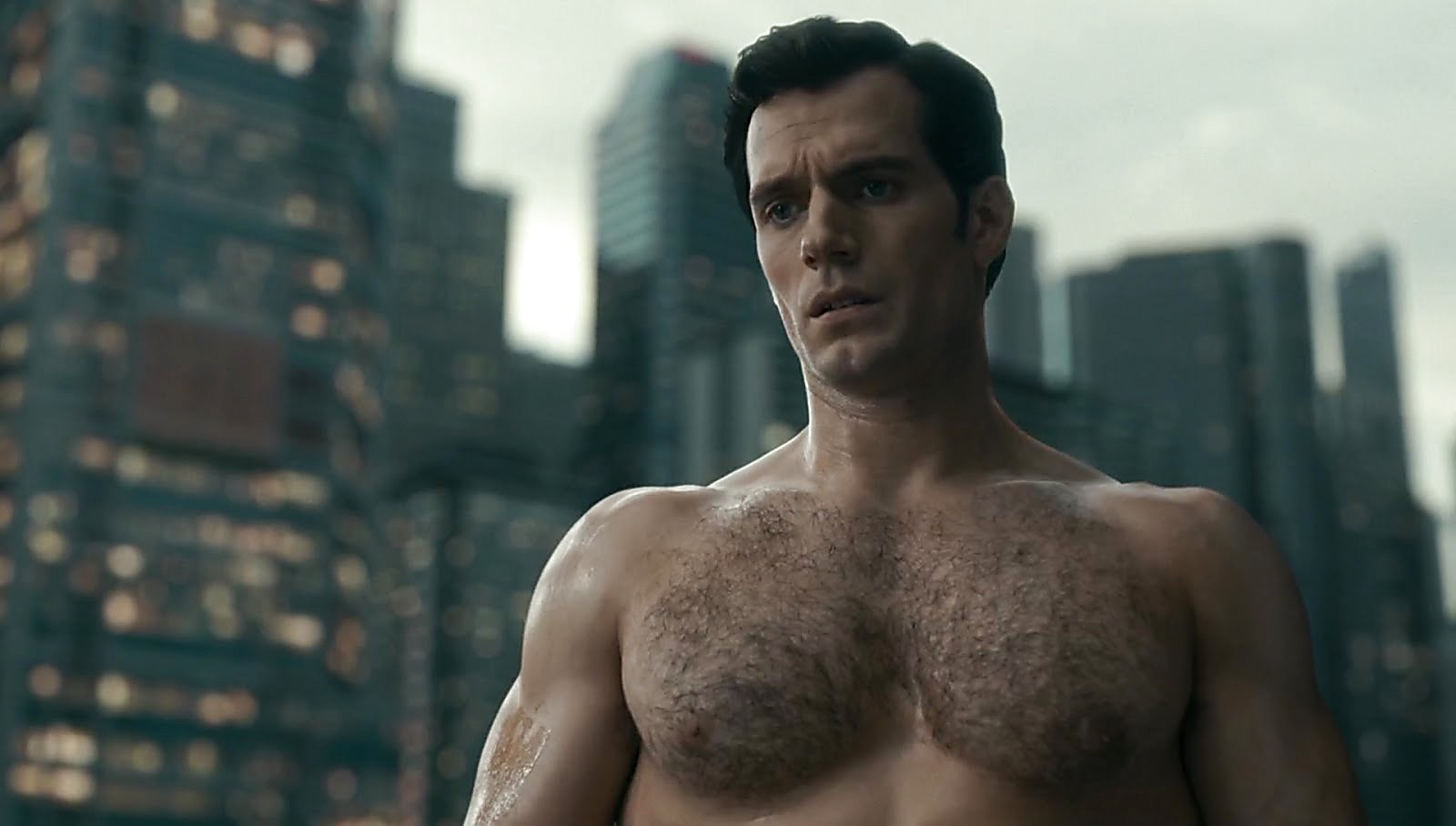 Henry Cavill sexy shirtless scene February 13, 2018, 11am