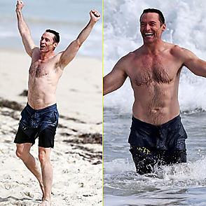 Hugh Jackman latest sexy shirtless August 22, 2019, 1pm