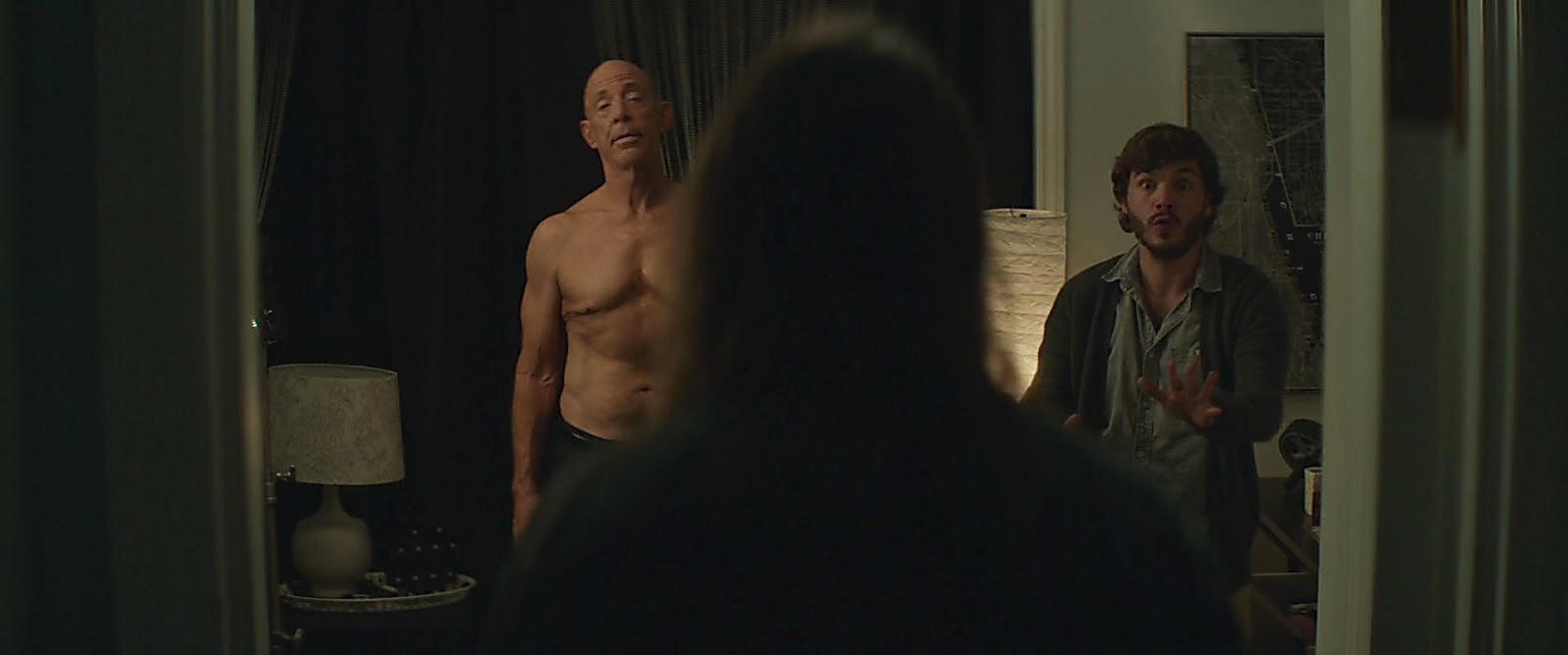 J K Simmons sexy shirtless scene March 25, 2017, 1pm