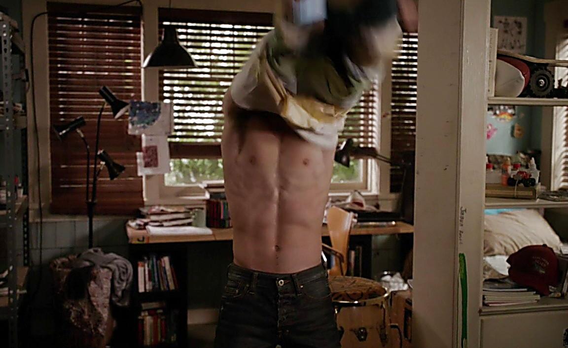 Jake T Austin sexy shirtless scene February 8, 2014, 9pm