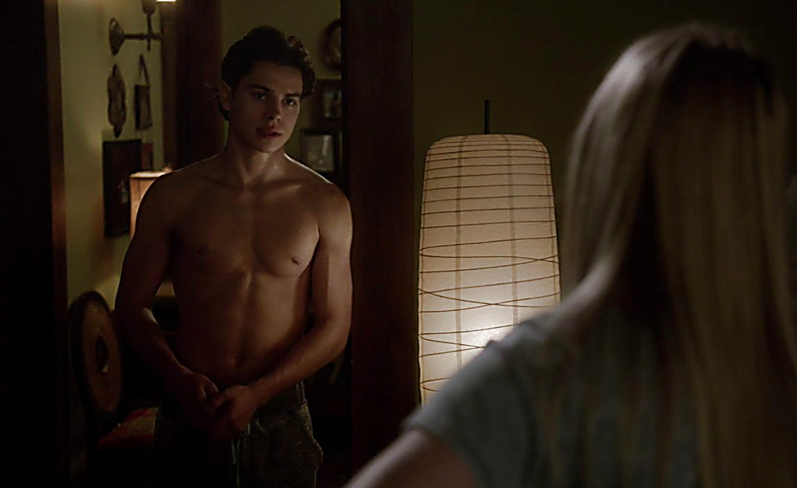 Jake T Austin sexy shirtless scene March 23, 2014, 5pm
