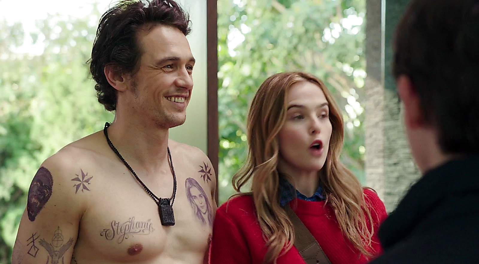 James Franco sexy shirtless scene March 14, 2017, 2pm