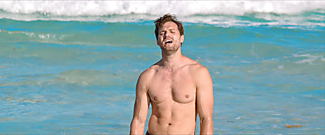 Jamie Dornan sexy shirtless scene February 12, 2021, 6am