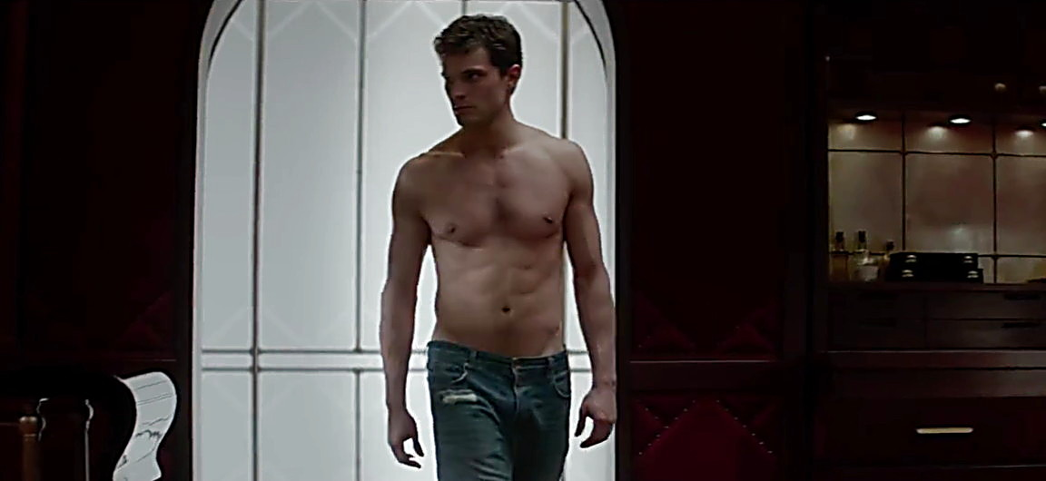 Jamie Dornan sexy shirtless scene August 2, 2014, 4pm
