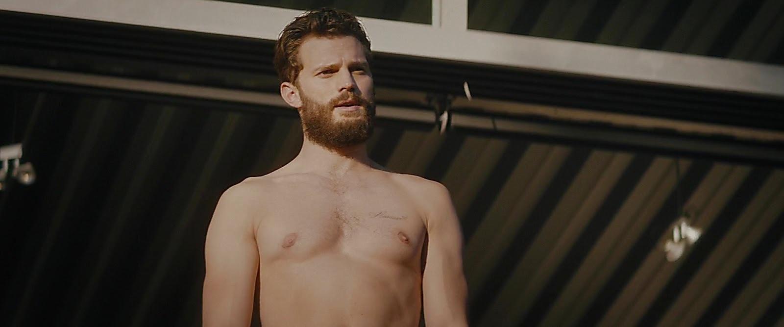 Jamie Dornan sexy shirtless scene February 8, 2019, 11am