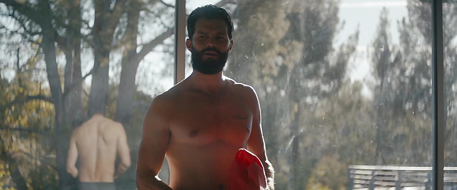 Jamie Dornan sexy shirtless scene February 8, 2019, 11am