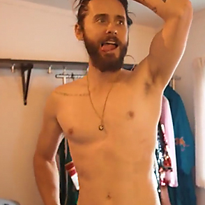 Jared Leto latest sexy shirtless August 23, 2018, 8pm