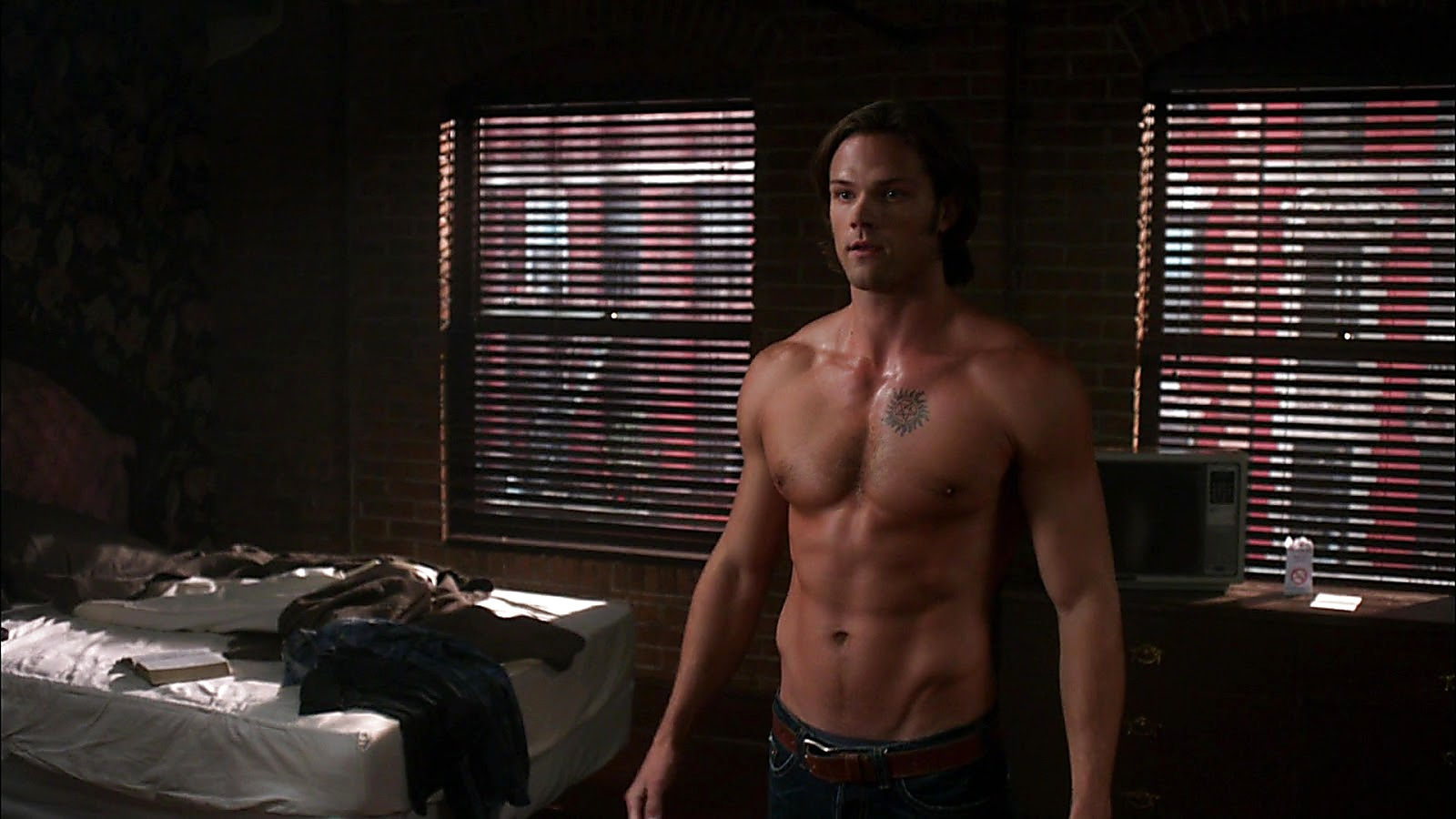 Jared Padalecki sexy shirtless scene April 10, 2020, 6am