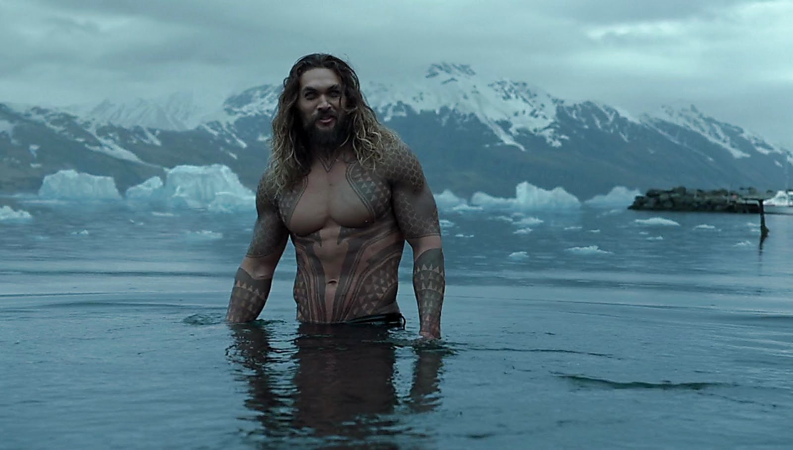 Jason Momoa sexy shirtless scene February 13, 2018, 11am