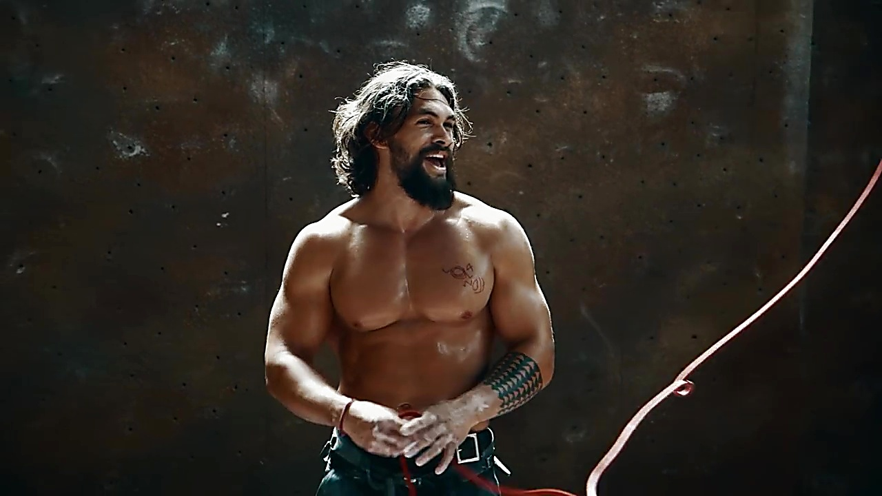 Jason Momoa sexy shirtless scene February 27, 2019, 10am