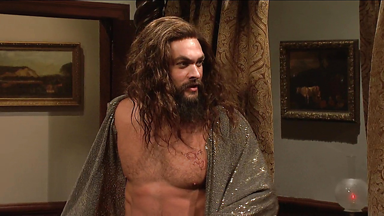 Jason Momoa sexy shirtless scene December 10, 2018, 12pm