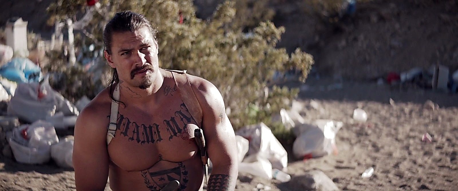 Jason Momoa sexy shirtless scene June 23, 2017, 1pm