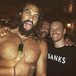 Jason Momoa latest sexy shirtless August 1, 2016, 6pm