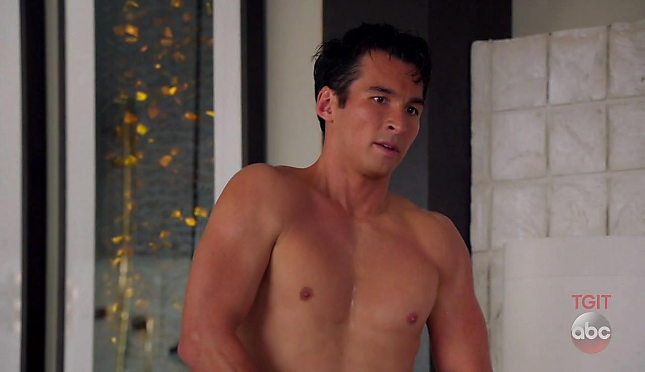 Jay Hayden sexy shirtless scene March 31, 2017, 1pm