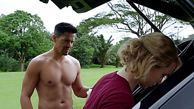 Jay Hernandez sexy shirtless scene April 17, 2021, 12pm