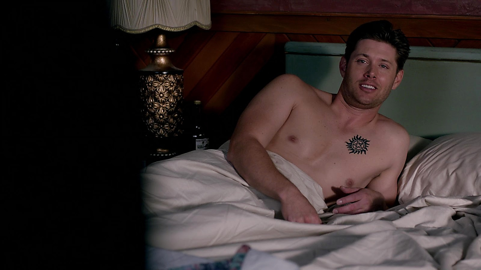 Jensen Ackles sexy shirtless scene April 13, 2020, 10am