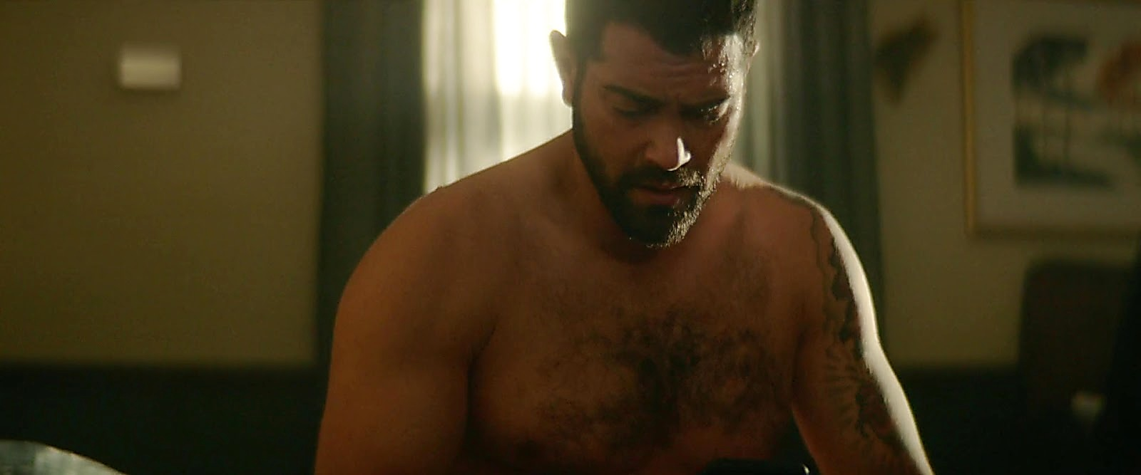 Jesse Metcalfe sexy shirtless scene August 25, 2020, 10am