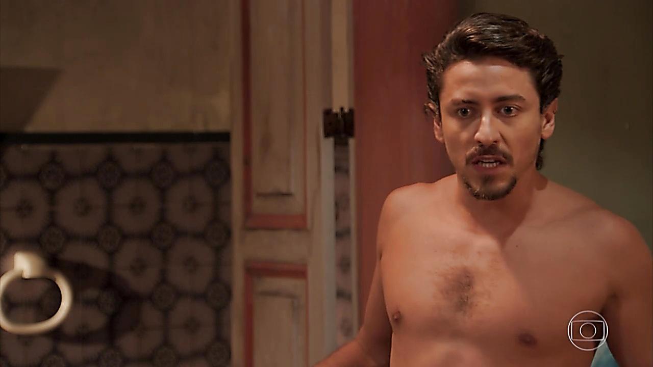 Jesuita Barbosa sexy shirtless scene April 10, 2019, 11am