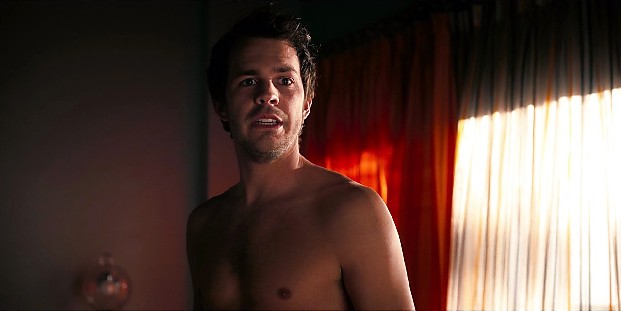 Johnny Simmons sexy shirtless scene April 28, 2017, 1pm