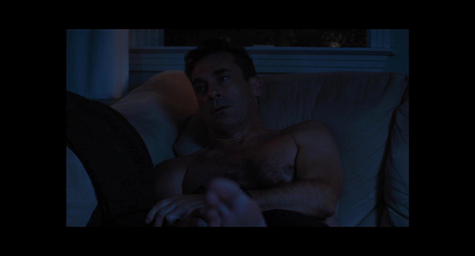 Jon Hamm sexy shirtless scene March 31, 2020, 5am