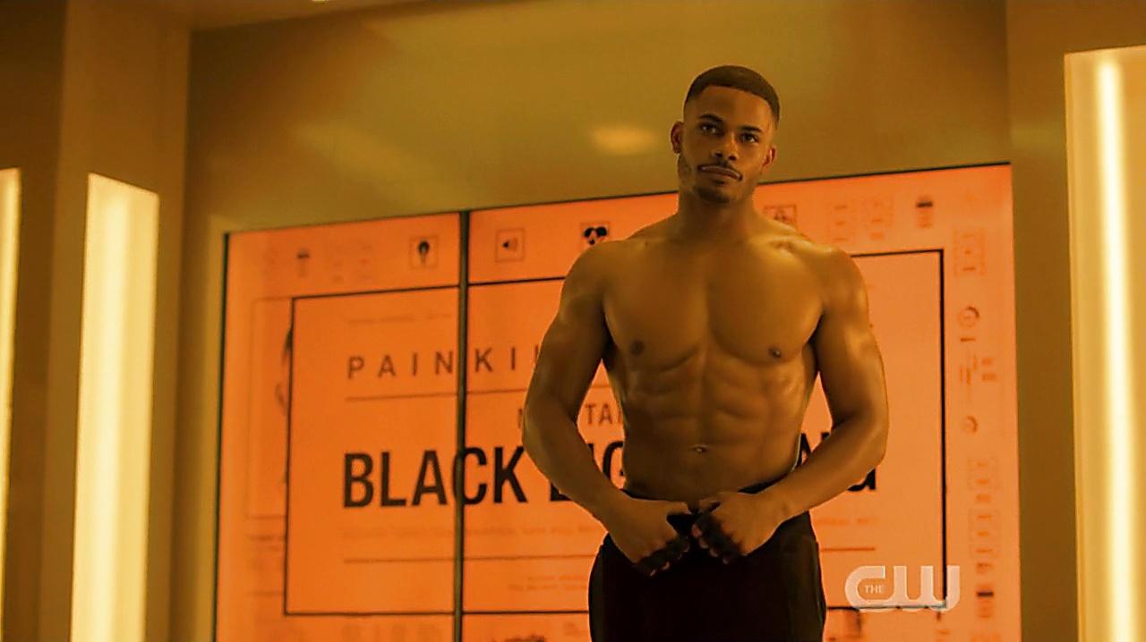 Jordan Calloway sexy shirtless scene December 1, 2019, 1pm
