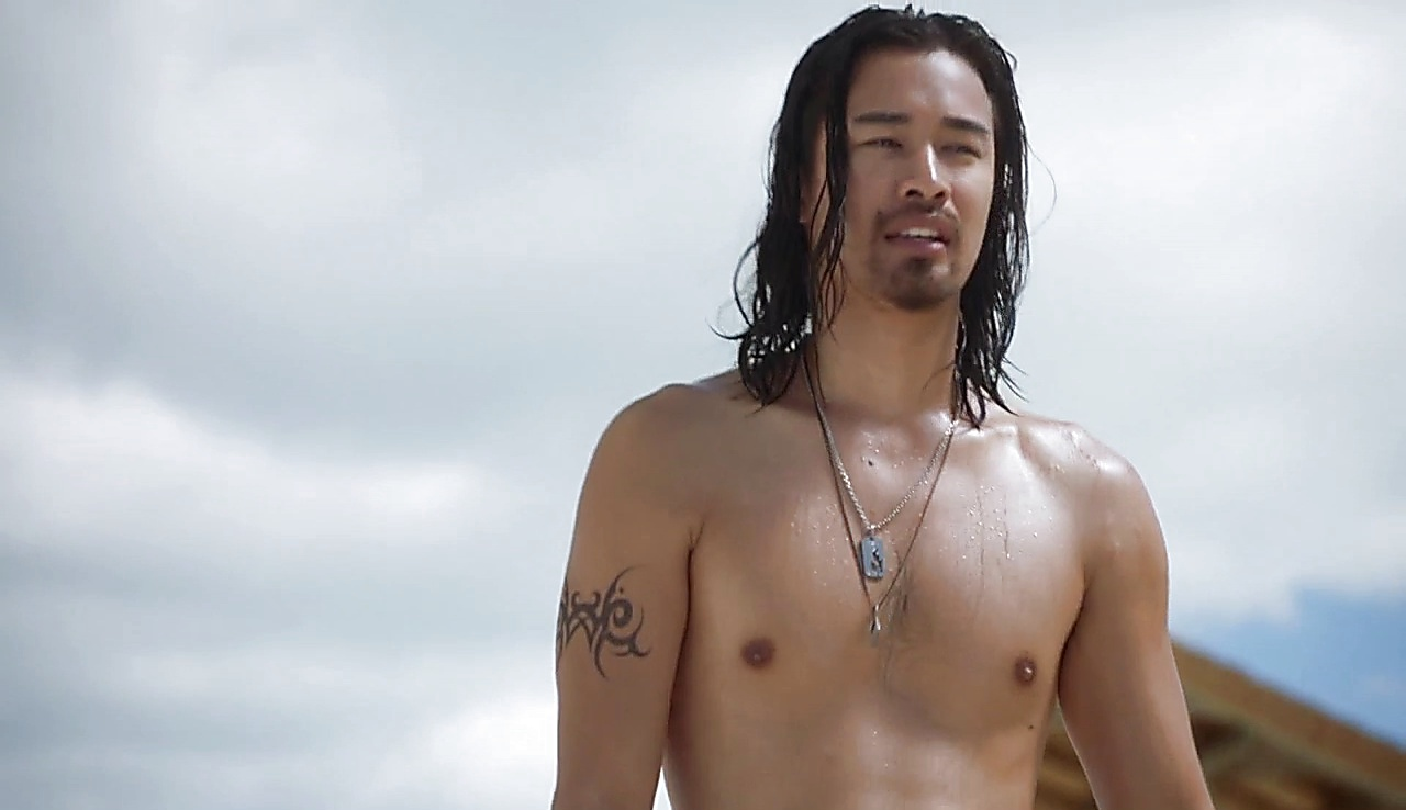 Jordan Rodrigues sexy shirtless scene June 6, 2018, 9am