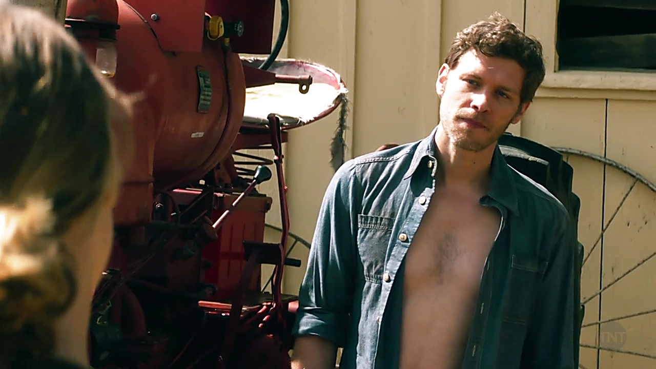 Joseph Morgan sexy shirtless scene August 17, 2019, 1pm