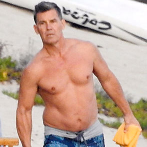 Josh Brolin latest sexy shirtless October 29, 2018, 5pm