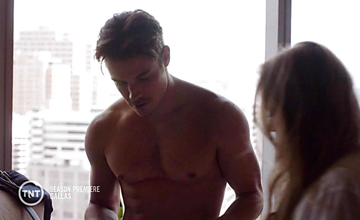 Josh Henderson sexy shirtless scene March 9, 2014, 4pm