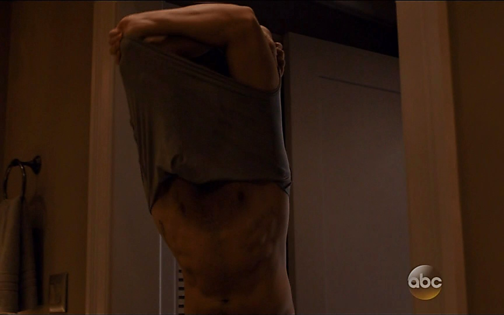 Joshua Bowman sexy shirtless scene January 2, 2015, 11pm
