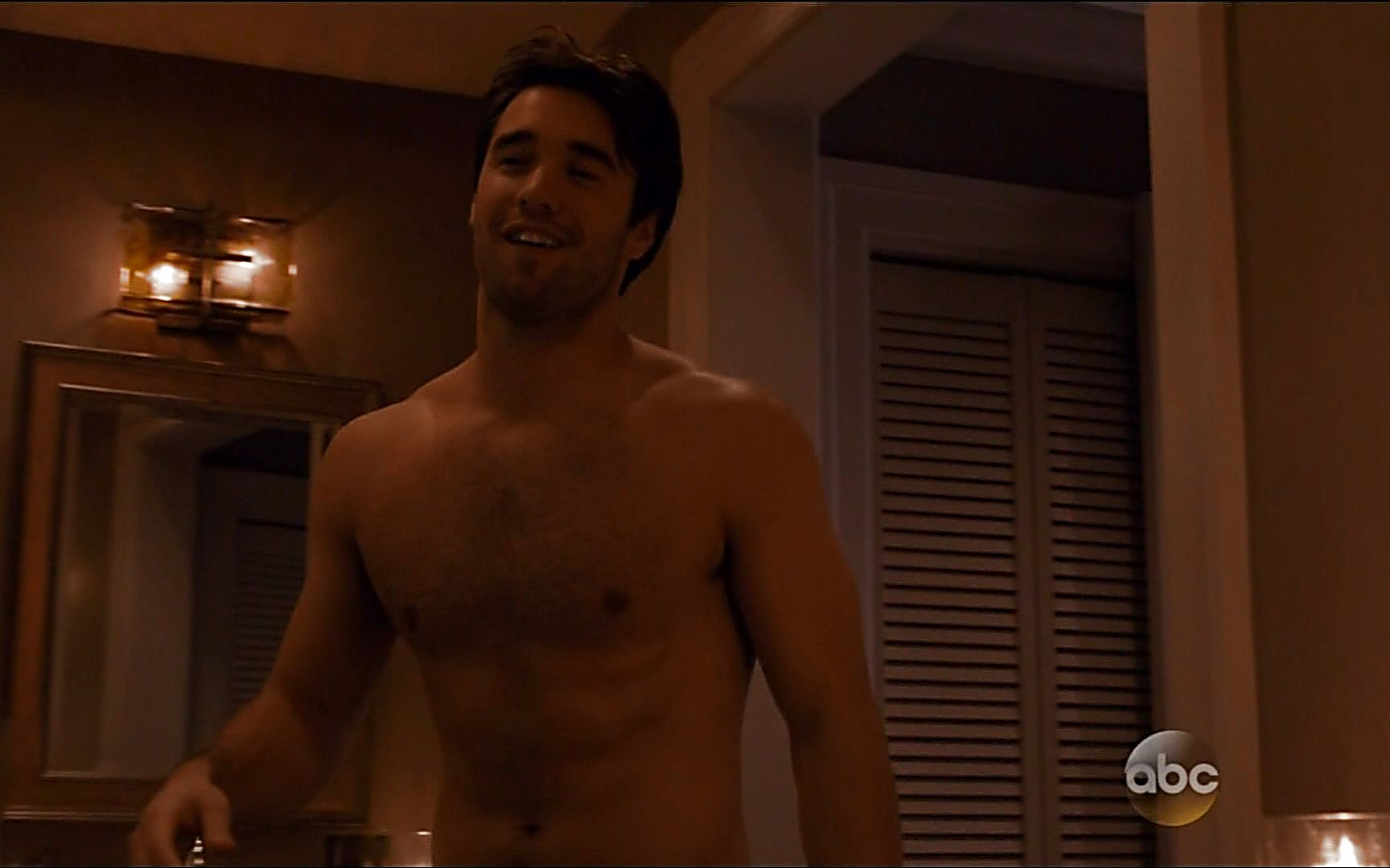 Joshua Bowman sexy shirtless scene January 2, 2015, 11pm