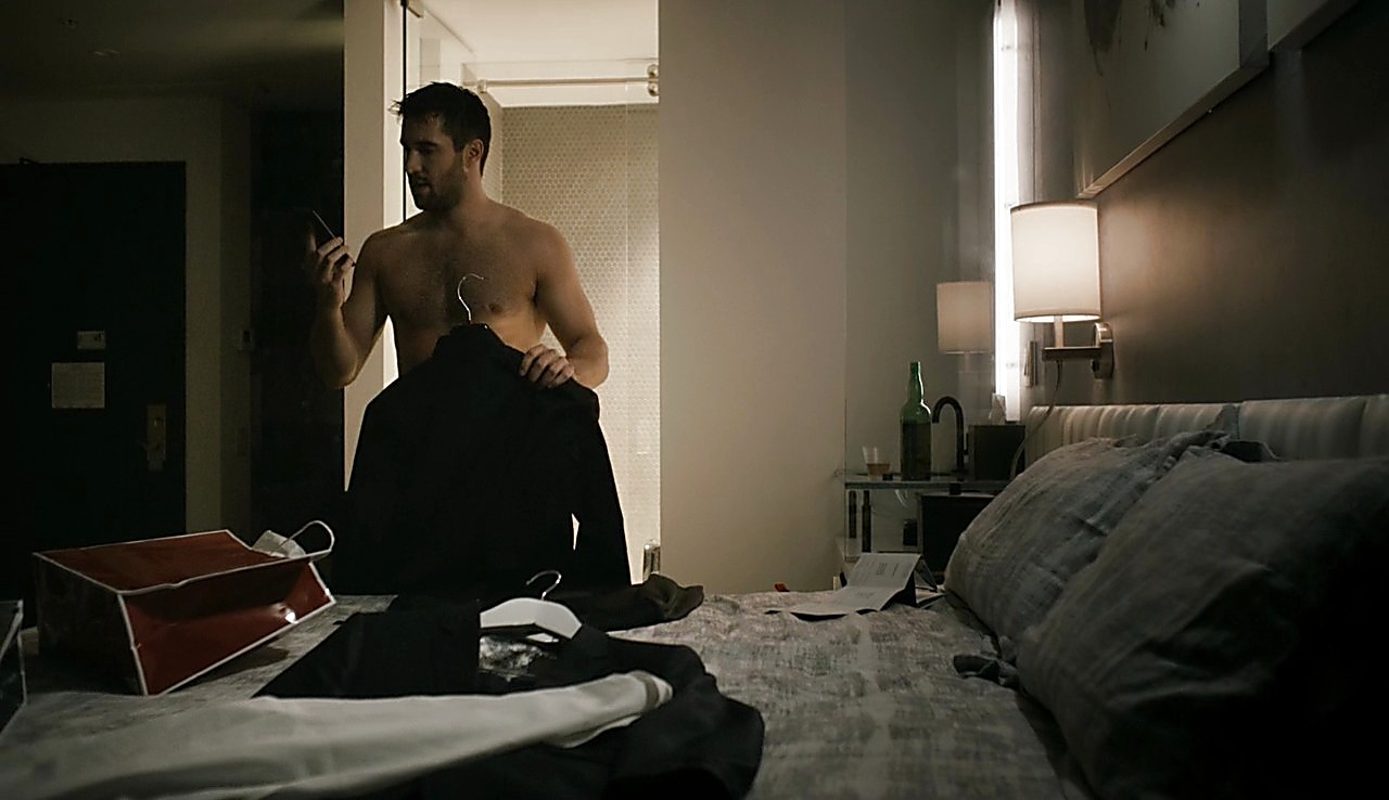 Joshua Bowman sexy shirtless scene March 7, 2017, 1pm