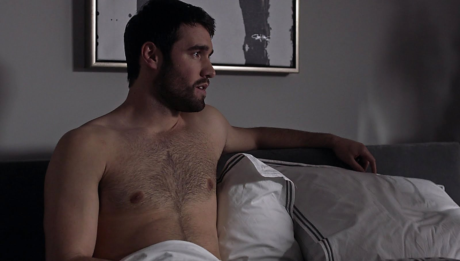 Joshua Bowman sexy shirtless scene September 1, 2017, 5am
