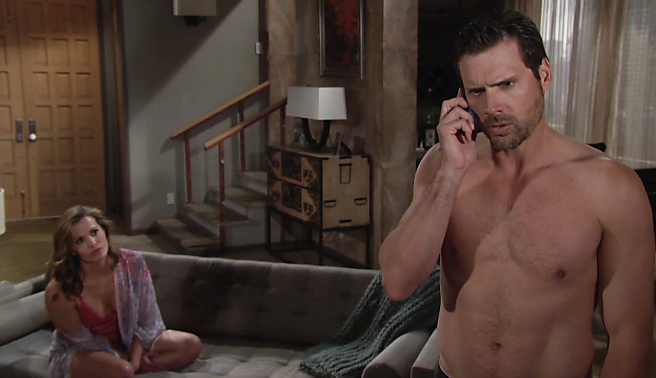 Joshua Morrow sexy shirtless scene July 10, 2017, 1pm