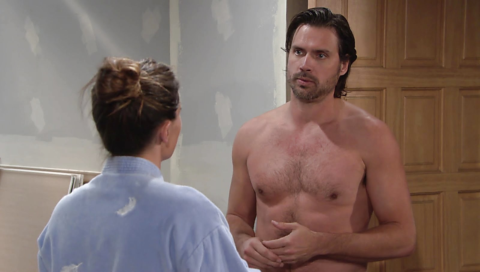 Joshua Morrow sexy shirtless scene January 25, 2018, 3pm
