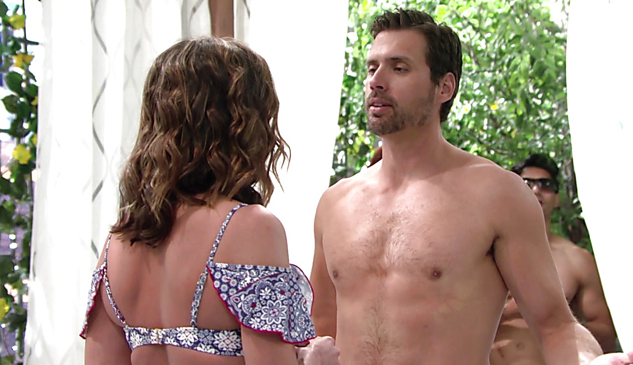 Joshua Morrow sexy shirtless scene July 4, 2017, 12pm