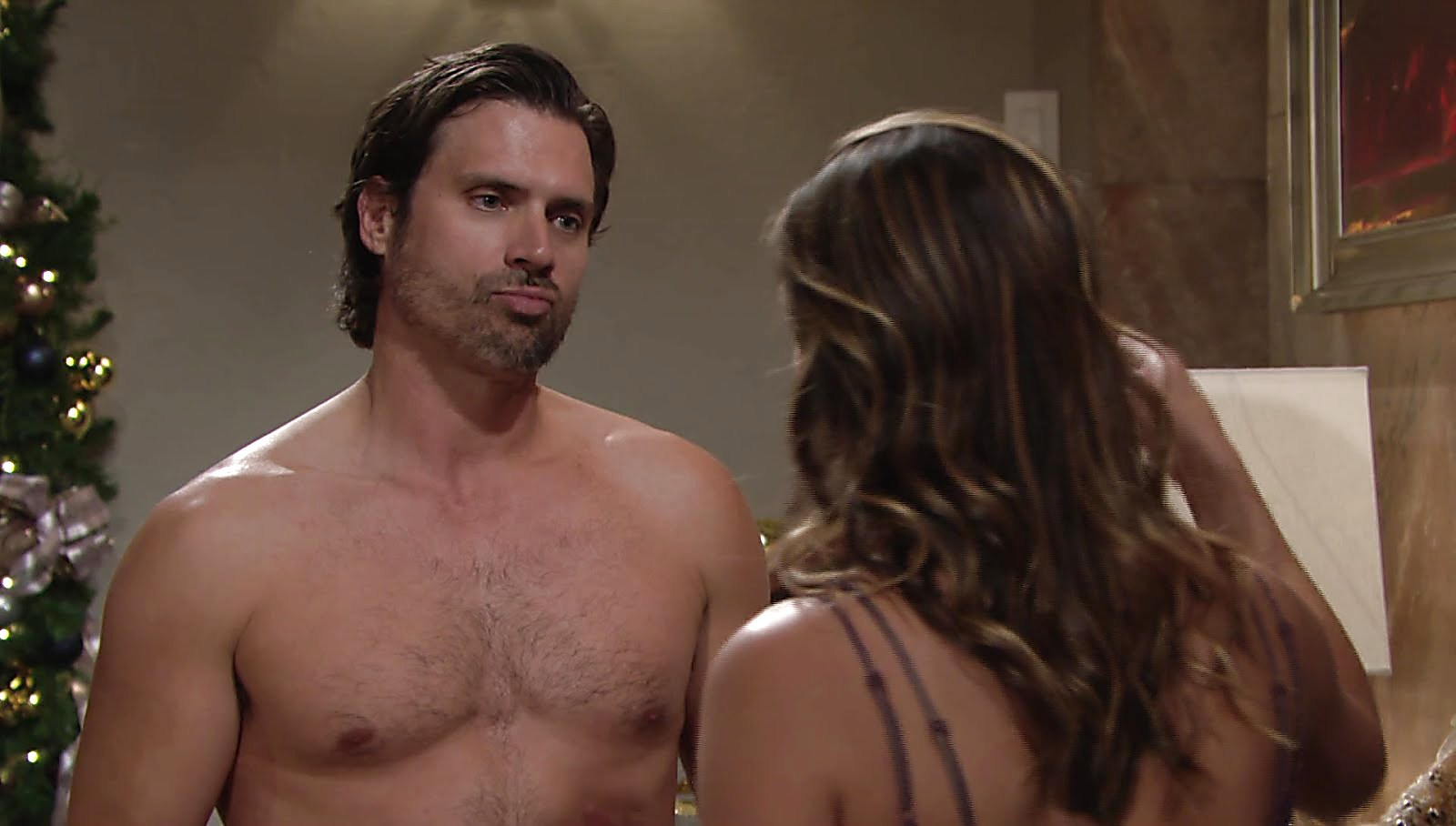 Joshua Morrow sexy shirtless scene December 29, 2017, 1pm