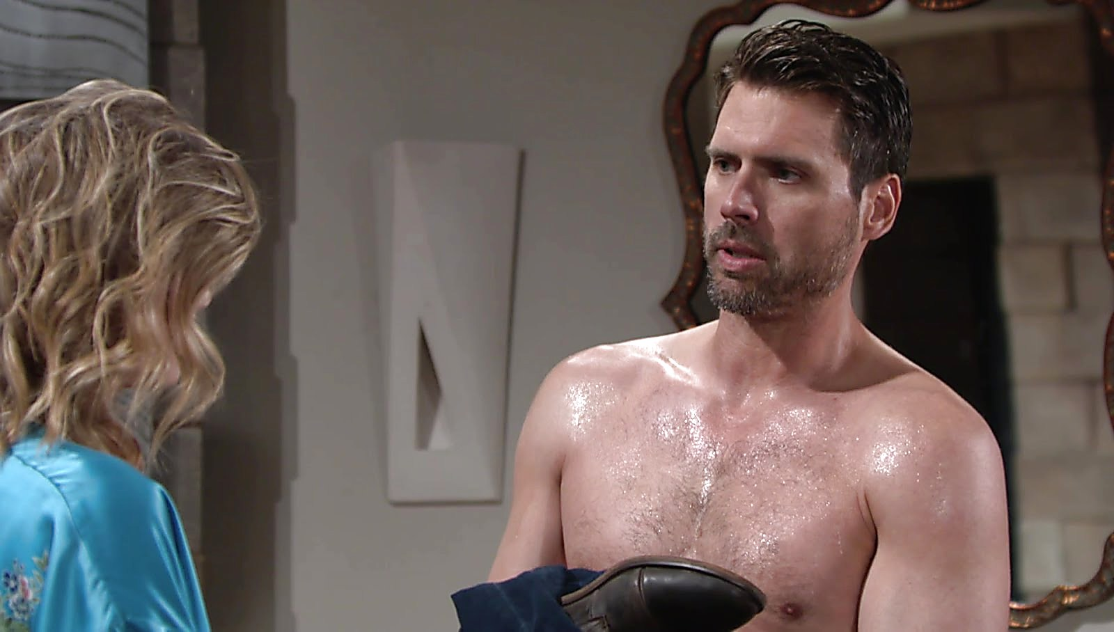 Joshua Morrow sexy shirtless scene July 26, 2018, 12pm