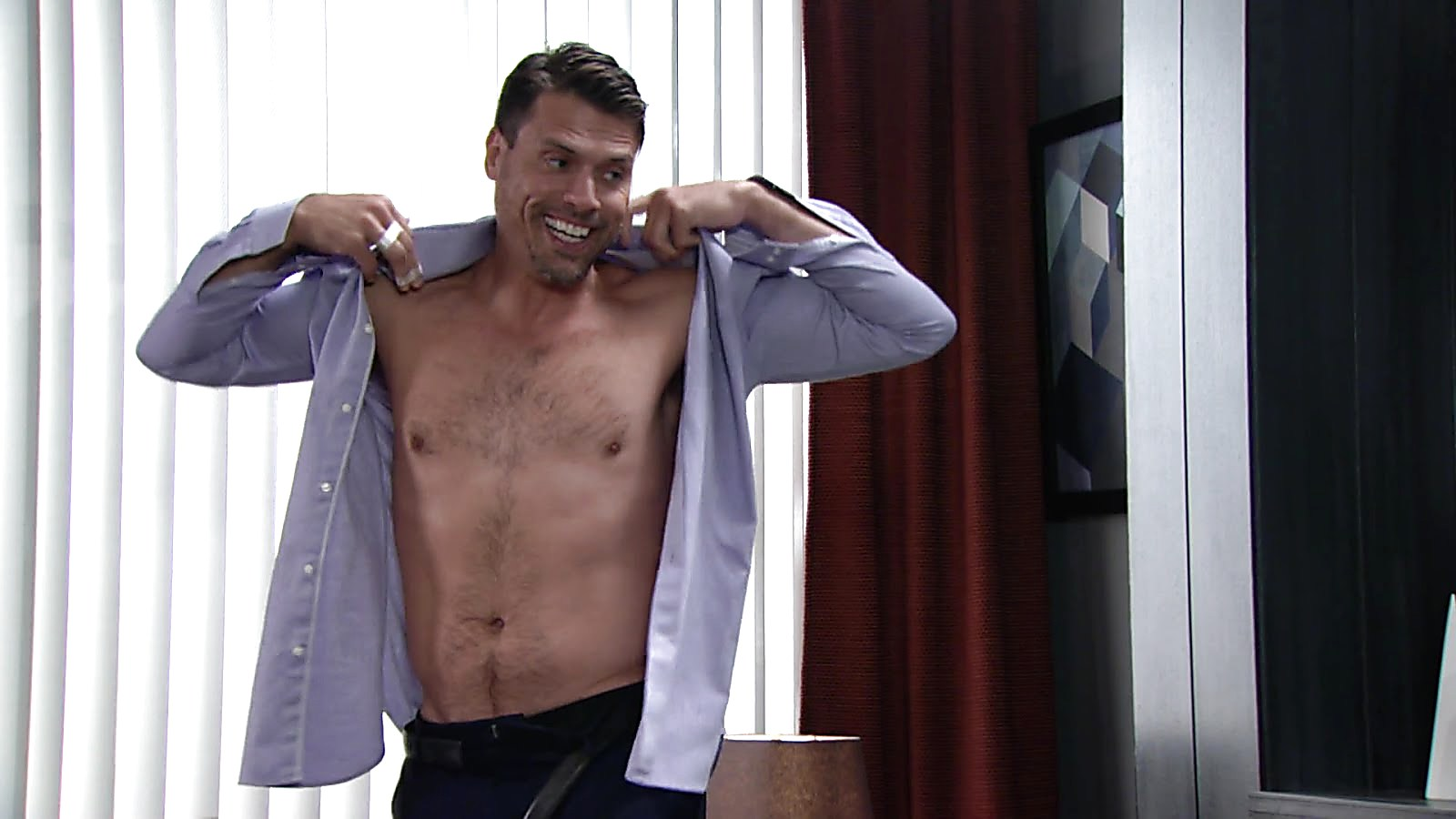 Joshua Morrow sexy shirtless scene November 8, 2018, 12pm