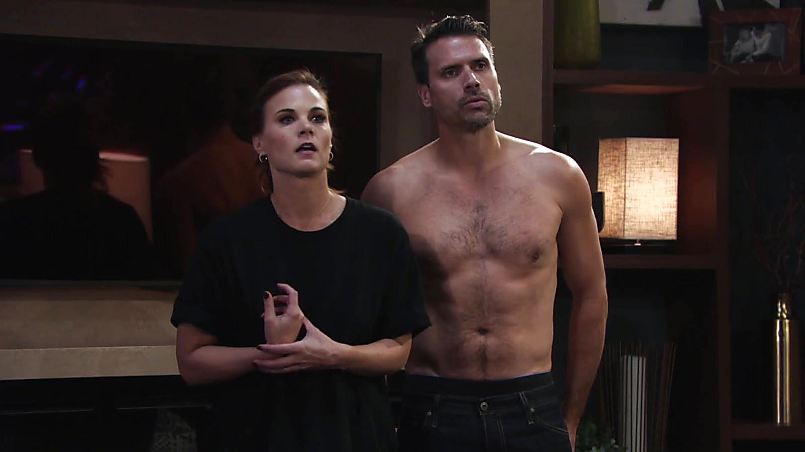 Joshua Morrow sexy shirtless scene November 27, 2018, 3pm