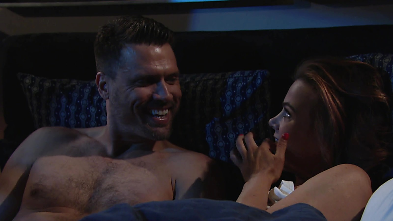 Joshua Morrow sexy shirtless scene February 16, 2019, 12pm