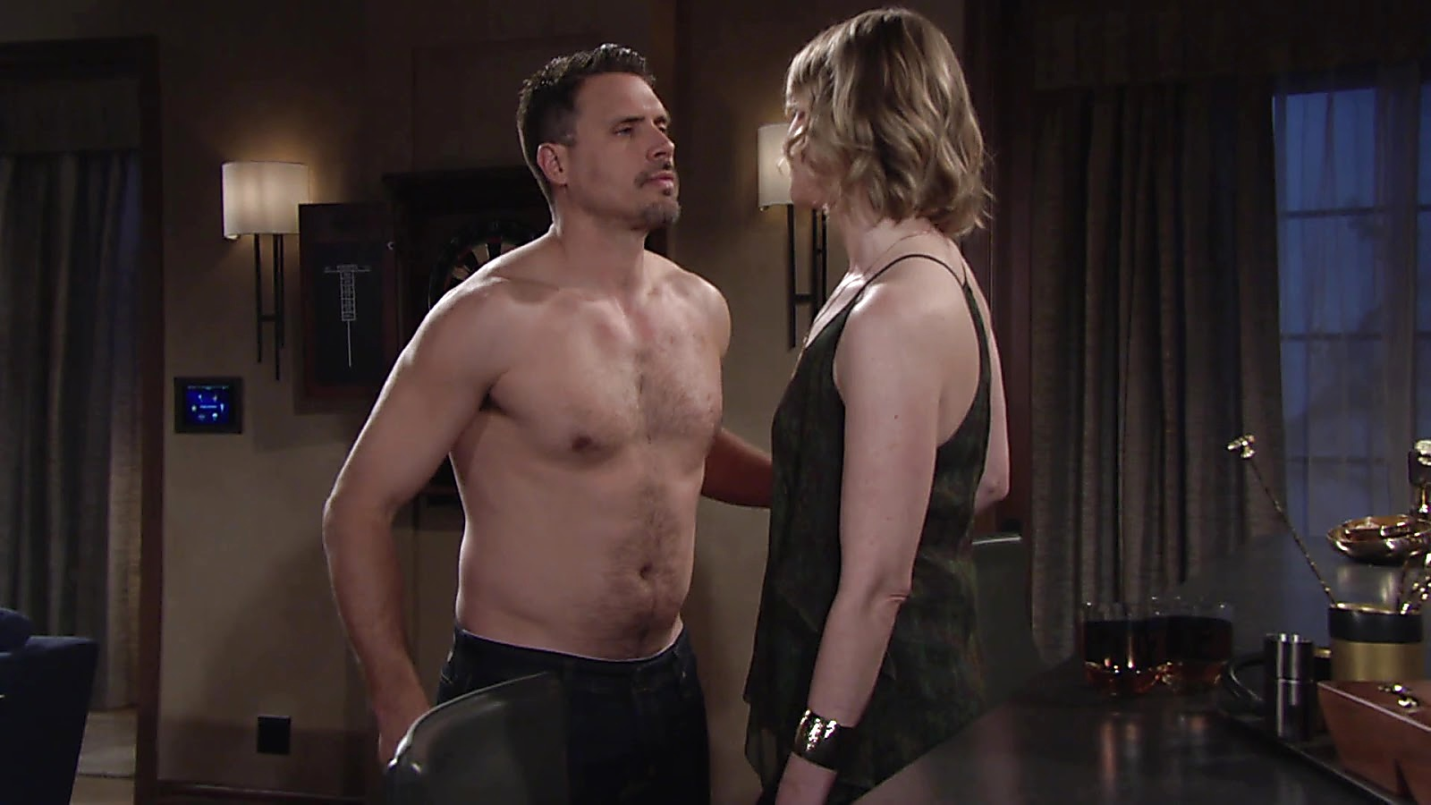 Joshua Morrow sexy shirtless scene April 11, 2019, 10am